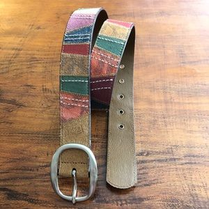 Fossil Multicolored Leather Belt